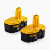 2-Pack 18-Volt 2.4-Amp Hours Nickel Cadmium (NiCd) Power Tool Batteries